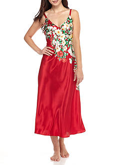 Jones New York Satin Floral Gown