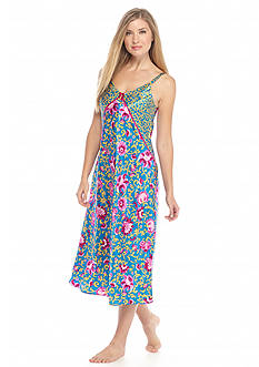 Jones New York Floral Scroll Satin Gown