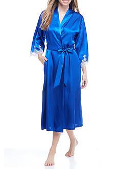 Jones New York Blue Lace Trim Robe