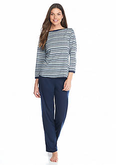Jones New York 2-Piece Navy Stripe Pajama Set