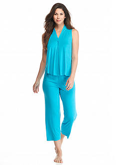 Jones New York Solid Jersey Tank Capri Pajama Set