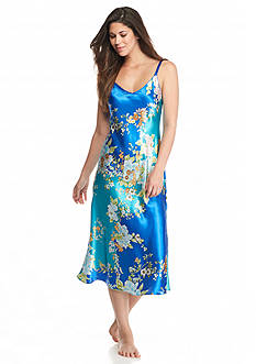 Jones New York Asian Garden Satin Gown
