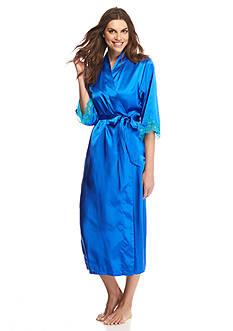 Jones New York Cobalt Lace Temptation Wrap Robe