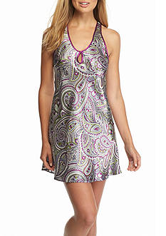Jones New York Paisley Montage Satin Chemise