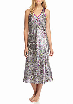 Jones New York Paisley Montage Satin Gown