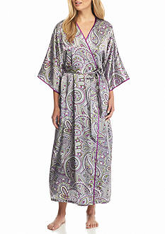 Jones New York Paisley Satin Robe