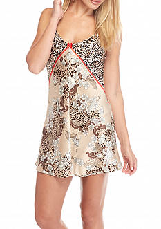 Jones New York Garden Print Satin Chemise