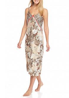 Jones New York Garden Print Satin Gown