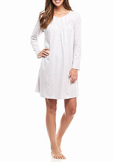 Aria Long Sleeve Cotton Jersey Short Gown
