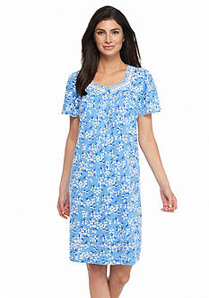 Aria Short Sleeve Printed Gown