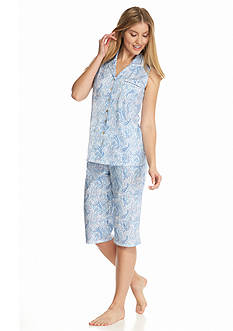 Aria Sleeveless Clamdigger Paisley Pajama Set