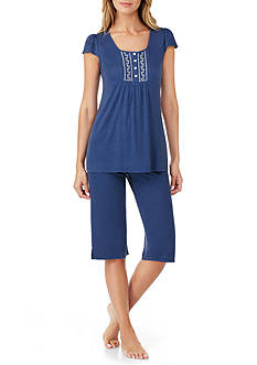 Aria Flutter Sleeve Clam-digger Pajama Set