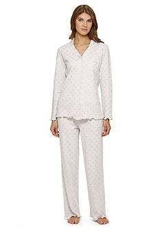 Aria Printed Long Sleeve Cardigan Pajama Set