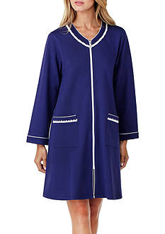Eileen West Long Sleeve Short Zip Robe