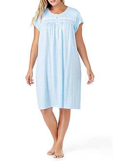 Eileen West Plus Size Short Pointelle Gown