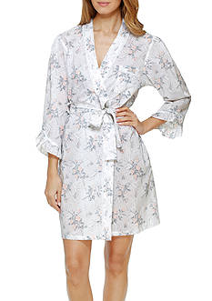 Eileen West White Rose Short Robe