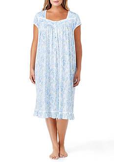 Eileen West Plus Size Jersey Print Waltz Gown