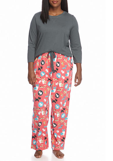 Kim Rogers® Plus Size 3-Piece Walter Dot Pajama Set