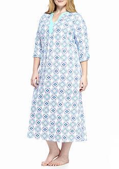 Kim Rogers Plus Size Paisley Medallon Gown