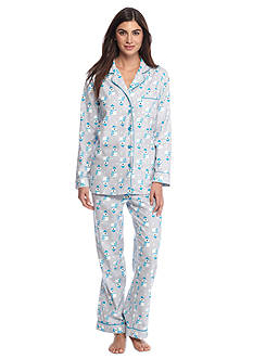 Kim Rogers® Folded 2-Piece Flannel Button Front Polar Bear Pajama