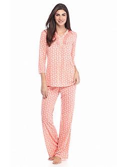 Kim Rogers® 2-Piece Ditsy Dallion V-Neck Pajama Set