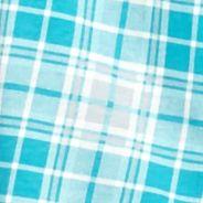 Women: Pajama Sets Sale: Turquoise Plaid Kim Rogers Long Sleeve Notch Collar Plaid Pajama Set