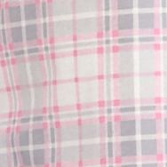 Women: Pajama Sets Sale: Pink Plaid Kim Rogers Long Sleeve Notch Collar Plaid Pajama Set