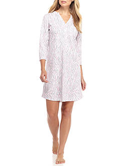 Kim Rogers Three Quarter Zebra Sleepshirt