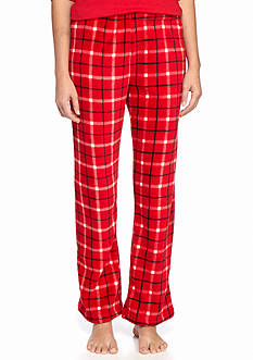 Kim Rogers Plaid Franklin Plush Fleece Pant