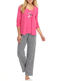 Kim Rogers® 3-Piece Dog Houndstooth Pajama Set