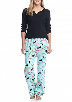 Kim Rogers® 3-Piece Dog Party Flannel Pajama Set