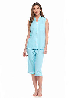 Kim Rogers® Sleeveless Modern Dot Pajama Set