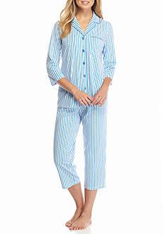 Kim Rogers 2-Piece Notch Collar Hillary Stripe Pajama Set