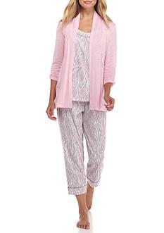 Kim Rogers 3-Piece Zebra Pajama Set