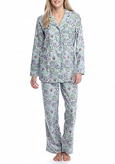 Kim Rogers® 2 Piece Crafty Owl Flannel Pajama Set