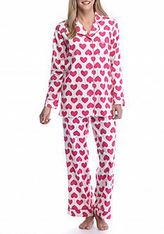 Kim Rogers 2-Piece Heart Flannel Pajama Set