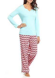 Kim Rogers 2-Piece Ric Rac Stripe Pajama Set