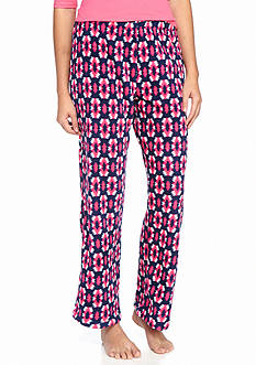Kim Rogers Pink Tribal Plush Fleece Pant