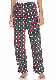 Kim Rogers Fun Dot Plush Fleece Pant