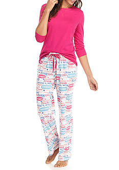 Kim Rogers 3-Piece Star Script Pajama Set