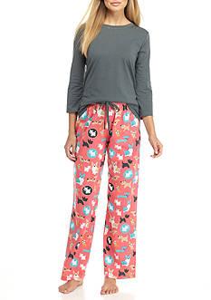Kim Rogers 3-Piece Walter Dot Pajama Set