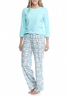 Kim Rogers® 3-Piece Stripe Polar Bear Pajama Set