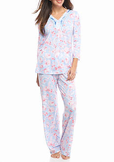 Kim Rogers Flower Print Pajama Set