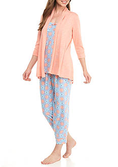 Kim Rogers 3 Piece Medallion Pajama Set