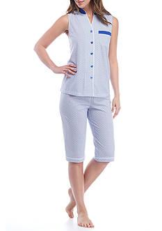Kim Rogers Feminine Sleeveless Modern Geo Pajama Set