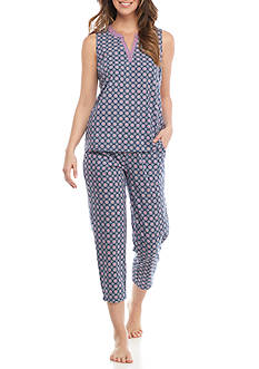 Kim Rogers Cozy Split V-Neck Pajama Set
