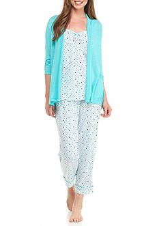 Kim Rogers 3 Piece Au Voir Dot Pajama Set