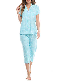 Kim Rogers Short Sleeve Notch Collar Pajama Set