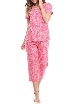 Kim Rogers® Short Sleeve Notch Collar Pajama Set
