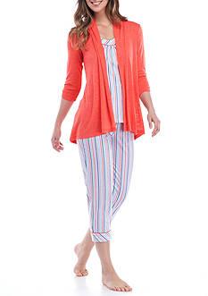 Kim Rogers 3-Piece Cardigan Pajama Set